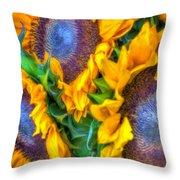 Delightfully Sunny Throw Pillow