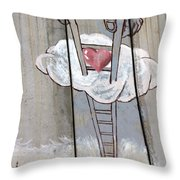 Delivering Love Throw Pillow