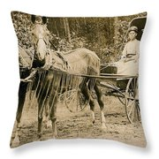 Delivering The Mail 1907 Throw Pillow
