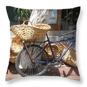 Delivery Bike Throw Pillow