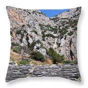 Delphi Stadium Ruins 2 Throw Pillow