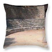Delphi Stadium Ruins 3 Throw Pillow