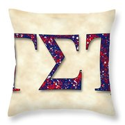 Delphic Of Gamma Sigma Tau - Parchment Throw Pillow