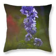 Delphinium Blossom Throw Pillow
