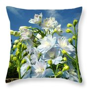 Delphinium Sky Original Throw Pillow