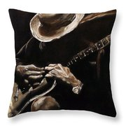 Delta Blues Throw Pillow