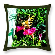 Delta Butterfly Dazes Throw Pillow
