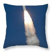 Delta II Rocket Throw Pillow