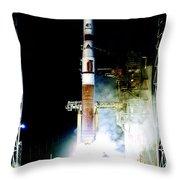 Delta Iv Rocket Throw Pillow
