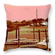 Delta Marina And Hues Of Color Throw Pillow