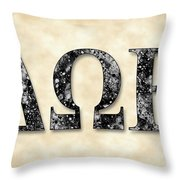 Delta Omega Epsilon - Parchment Throw Pillow