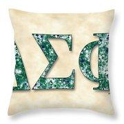 Delta Sigma Phi - Parchment Throw Pillow