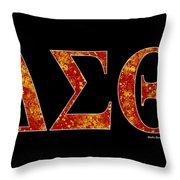 Delta Sigma Theta - Black Throw Pillow