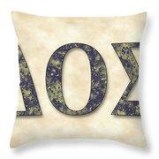 Delta Theta Sigma - Parchment Throw Pillow