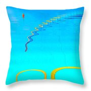 Hang-glider - Deltaplane - Island Reunion-indian Ocean Throw Pillow by Francoise Leandre