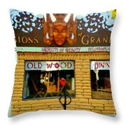 Delusions Of Grandeur Bank St Furniture Art Store On The Glebe Paintings Of Ottawa Scenes C Spandau Throw Pillow