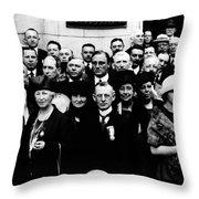 Democractic Delegates, 1920 Throw Pillow