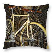 Demon Path Racer Bicycle Throw Pillow by Mark Jones