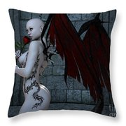 Demonic Love Throw Pillow