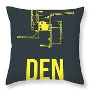 Den Denver Airport Poster 1 Throw Pillow by Naxart Studio