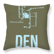 Den Denver Airport Poster 3 Throw Pillow