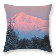 Denali December Sunrise Throw Pillow