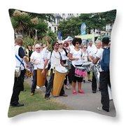 Dende Nation Samba Drum Troupe Throw Pillow