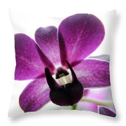 Dendrobium I Throw Pillow