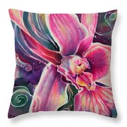 Dendrobium II Throw Pillow