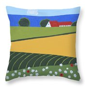 Denmark 5 Throw Pillow