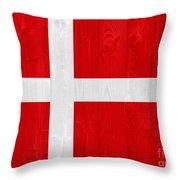 Denmark Flag Throw Pillow
