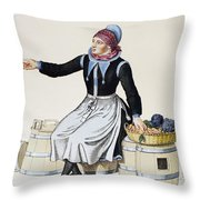 Denmark Vegetable Vendor Throw Pillow