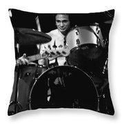 Denny Carmasi On The Drums In 1978 Throw Pillow