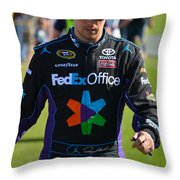 Denny Hamlin Throw Pillow