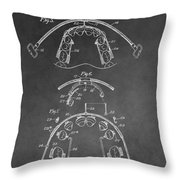 Dental Braces Patent Throw Pillow