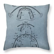 Dental Braces Patent Design Throw Pillow