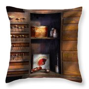 Dentist - Dental Burrs  Throw Pillow by Mike Savad
