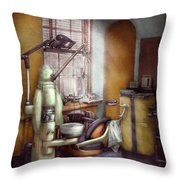 Dentist - Dental Office Circa 1940's Throw Pillow