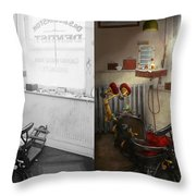 Dentist - S.b. Johnston Dentist 1919 - Side By Side Throw Pillow