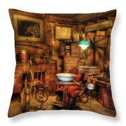 Dentist - The Dentist Office Throw Pillow by Mike Savad