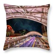 Denver Air Traveler Throw Pillow