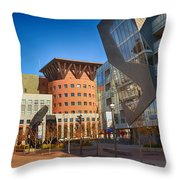 Denver Art Museum Courtyard Throw Pillow