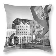 Denver Art Museum Courtyard Bw Throw Pillow