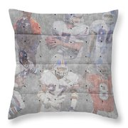 Denver Broncos Legends Throw Pillow