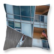 Denver Diagonal Lines Throw Pillow