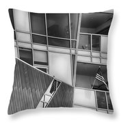 Denver Diagonal Lines Bw Throw Pillow