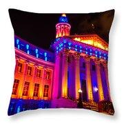 Denver Orange And Blue Pride Throw Pillow