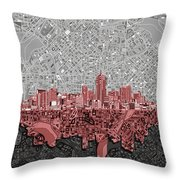 Denver Skyline Abstract 2 Throw Pillow