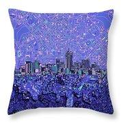 Denver Skyline Abstract 4 Throw Pillow
