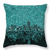 Denver Skyline Abstract 5 Throw Pillow